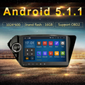 Radio 2 din jogador Android para Kia Rio K2 2din autoradio GPS Kia Rio K2 2 din navegador Civic navi rádio unidade de Cabeça Quad cabo