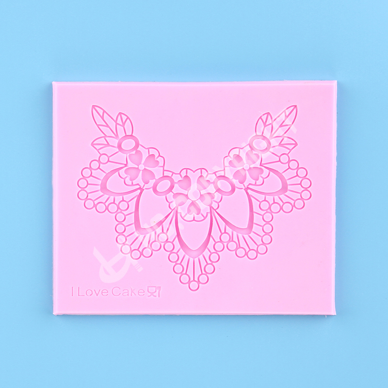 3d Mini Coeur Feuille Fleur Dentelle Collier En Relief Tapis Silicone Gâteau Décoration Chocolat Cuisson Moule Outils De Bricolage