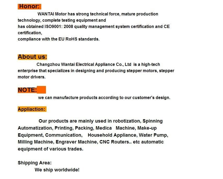 UT8dtWwXmRcXXagOFbX0 - Wantai CNC Stepper Motor Driver 80VDC/7.8A/256Microstep,DSP code,  for Nema 34 motors, Ship Worldwide, CE, RoHS,DQ860MA
