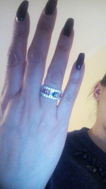 Luxe Blanc Saphir Amour Bague de mariage Set Argent 925 Fiançailles Bijoux Sz5-12