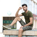 2016Freearmy OEM High Quality cotton Green/Black Custom Print Long Line T Shirt Men MS-6292A