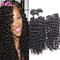 7a Indian Virgin Hair With Closure Deep Curly Ali moda 3 Bundles Curly Hair With Lace Closure Indian Deep Wave With Lace Closure
