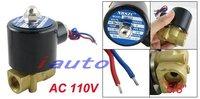 """переменный ток 110 в 3 / 8 """" прямого действия вода газ электрическая соленоид клапан"""