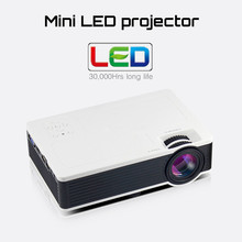 Big discount LED Mini Pico Projector 1000 lumens Home Cinema Business HDMI AV SD For Theater beamer proyector