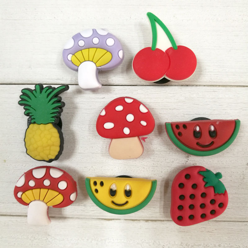 Hot Free Shipping!8pcs /Lot Fruit shoe decoration/shoe charms/shoe accessories for wristbands kids gifts HYB006A free shipping 8pcs lot mickey shoe decoration shoe charms shoe accessories for wristbands kids school gifts