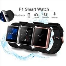 Wasserdichte Sport Smart Watch F1 Bluetooth Armbanduhr SmartWatch für Android Smartphones Pedometer Mp3/Mp4 Tragbare Telefon