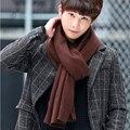 2016 НОВЫЙ прибыл марка мужчины вязать шарф зимние шарфы длинный размер