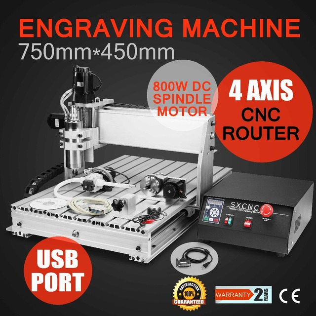 4 AXIS USB CNC ROUTER ENGRAVER ENGRAVING CUTTER 6040T with 800W Spindle with four axis