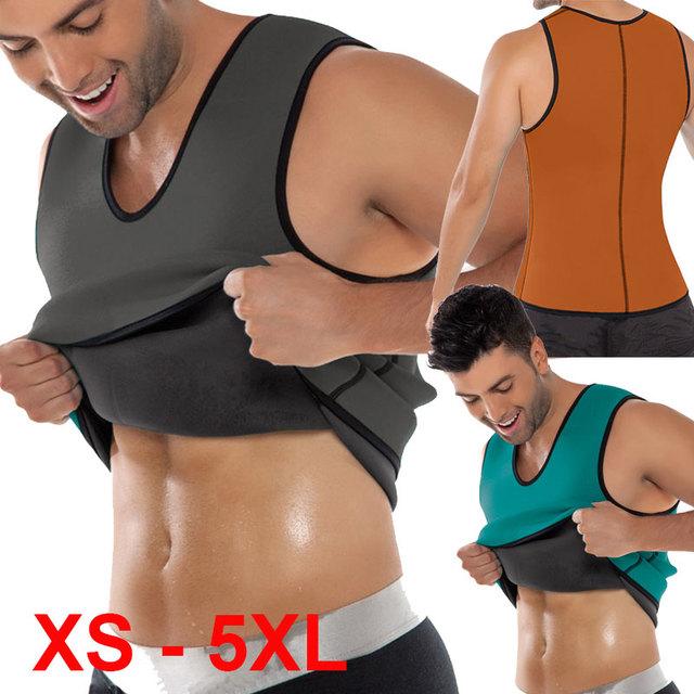 2016 XS-5XL plus size cincher cintura para homens transpiração do suor colete cintura instrutor cintura corset shaper corpo quente M05O