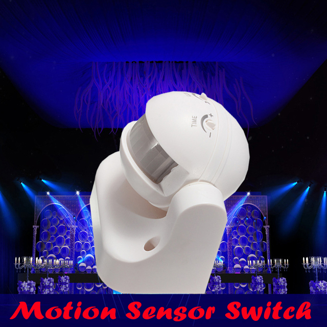 Newest IP44 110-240V 50Hz 180 Degree Outdoor Security PIR Infrared Motion Sensor Detector Movement Switch 1pcs
