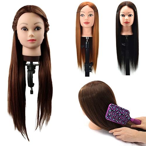 Salon Perruque Femme Tête Mannequin Cheveux Vinaigrette Pratique Tressage Outil de Formation