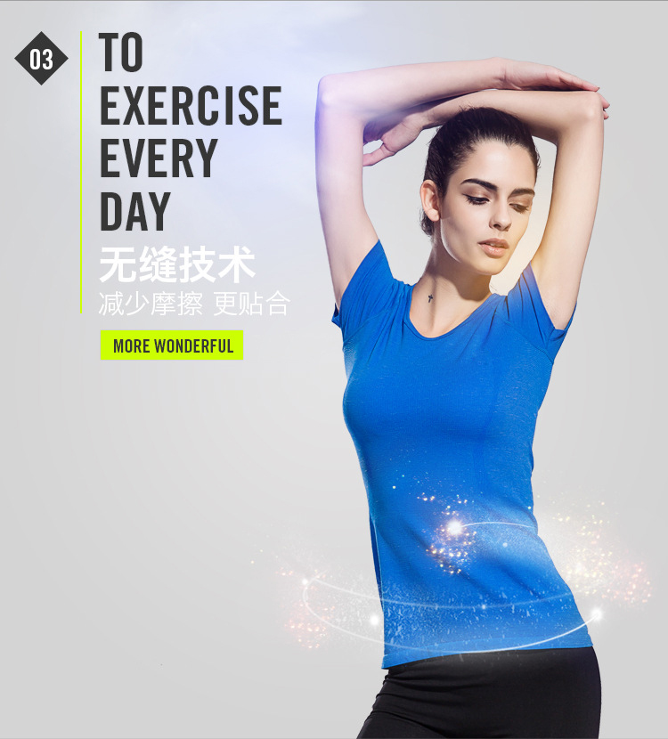 2016 Women Breathable Quick Dry Gym Sport Tops Loose Running T-Shirts Fitness Clothing