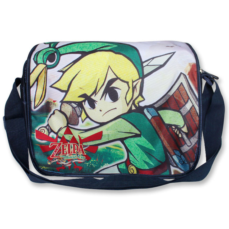 The Adventure of Link Of Anime The Legend of Zelda shoulder bag with colorful printing Type C anime the legend of zelda backpack bag school bag shoulder bag cosplay bag a style