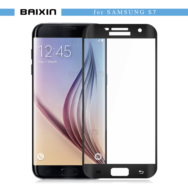 baixin Premium Full Cover Anti-Scratch Tempered Glass Screen Protector for Samsung Galaxy S7 SM-G930A G9300 G930 protective film