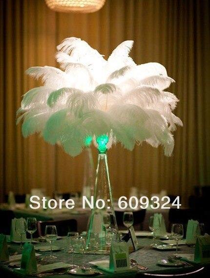 Сборный 100 шт Плюмаж из страусиного пера белый 10-12 дюймов Свадебные украшения Эйфелева башня центральный домашний стол центральный