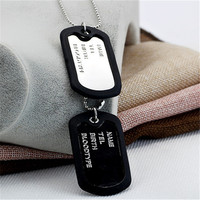 5 5 3 5cm Anti Lost Dog Cat Tag Fashion Necklace For Men Pet Name Tags