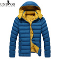 2015 Thick Winter Jacket Men Slim Hooded Outwear Hooded Zipper Overcoats Winter Cotton Fashion Large Size M-3XL ZHY2021
