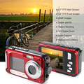 "Súper 24Mp de moda cámara Digital 1080 P HD de vídeo de 2.7 "" + 1.8 "" de doble pantalla 3 M cámara impermeable 16X Zoom Digital 550 Mah de la batería"