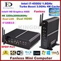 Melhor preço Core i74500u/4560U barebone mini computador, dupla lan, 2 * HDMI, USB3.0, 300 M WIFI, porta Óptica, HTPC