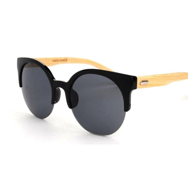 Half Frame Bamboo Sunglass 2016 Fashion Wooden Sunglasses Women Sunglasses Sun Glasses Oculo De Sol Masculino