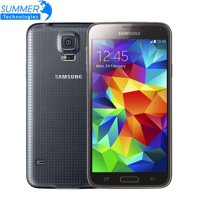 """Цена за Оригинальный Разблокирована Samsung Galaxy S5 i9600 Сотовые Телефоны 5.1 """"Super AMOLED Quad Core 16 ГБ ROM NFC Восстановленное Мобильных Телефонов"""