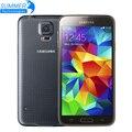 """Оригинальный Разблокирована Samsung Galaxy S5 i9600 Сотовые Телефоны 5.1 """"Super AMOLED Quad Core 16 ГБ ROM NFC Восстановленное Мобильных Телефонов"""