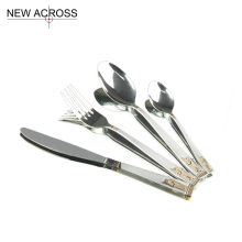 Gohide Quality 4pcs/Set Western Cutlery Metal Stainless Steel Tableware Steak Knife Fork Spoon Set Dinnerware Sets