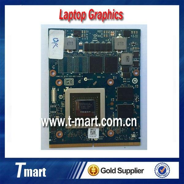 Оригинальный nVIDIA Geforce GTX 765 м 2 ГБ GDDR5 N14E-GE-B-A1 графика видеокарта для DELL M17x R5 M18x R3 CN-09R3F5 9R3F5 CN-05YPW3