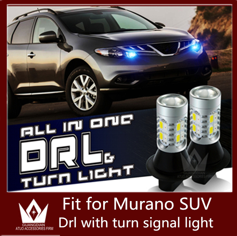Guang Dian Car led light DRL with turn signal light Daytime Running Lights and Turn Signals Light WY21W For Murano SUV 2010-2014 guang dian car led light gold color daytime running lights
