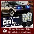 Guang Dian Carro levou luz DRL com sinal de volta luz Luzes de circulação Diurna e Sinais de Volta Luz Para Murano SUV 2010-2014
