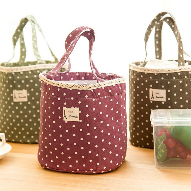 4color in 1 Waterproof Lunch Container Lunch Box Carry Bag lunch bag for Women Sweet Tote Picnic Pouch Storage bags