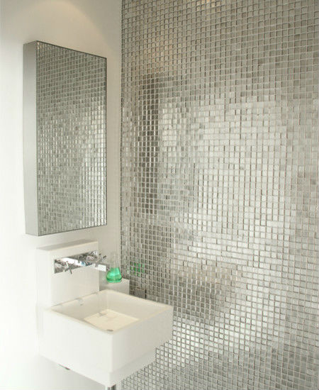Whole Metallic Tile Sheets Stainless Steel Aluminum Blend Mosaic Tiling Kitchen Designs Bathroom Wall Art