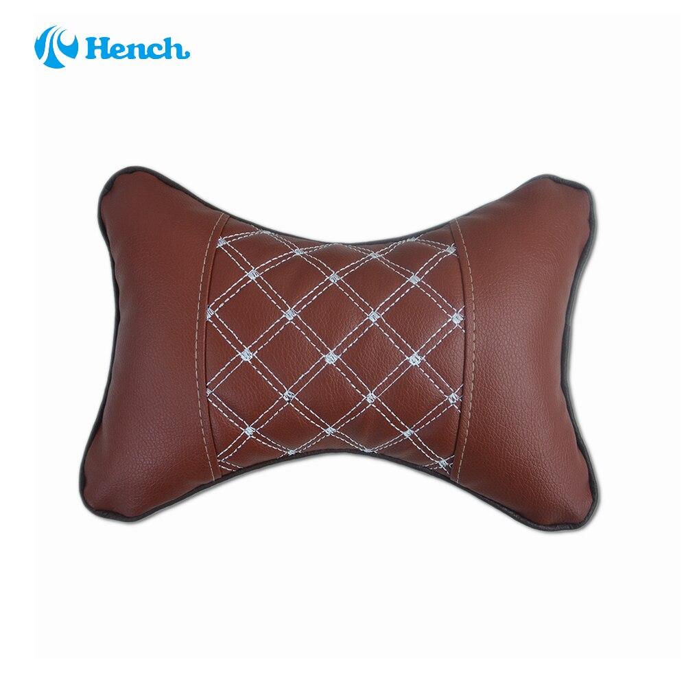 1pcs pu leather car neck pillow soft version simple breathe car auto head neck