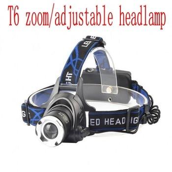 headlight led headlamp XML T6 waterproof zoom headlamp 18650 rechargeable battery flashlight adjustable head 3-mode torch Lights 1