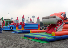 good quality PVC animal shape inflatable slide for kids entertainment inflatable slide sports