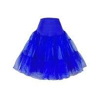 Tutu Skirt Silps Swing Rockabilly For Wedding Bridal Retro Vintage Women Gown S024