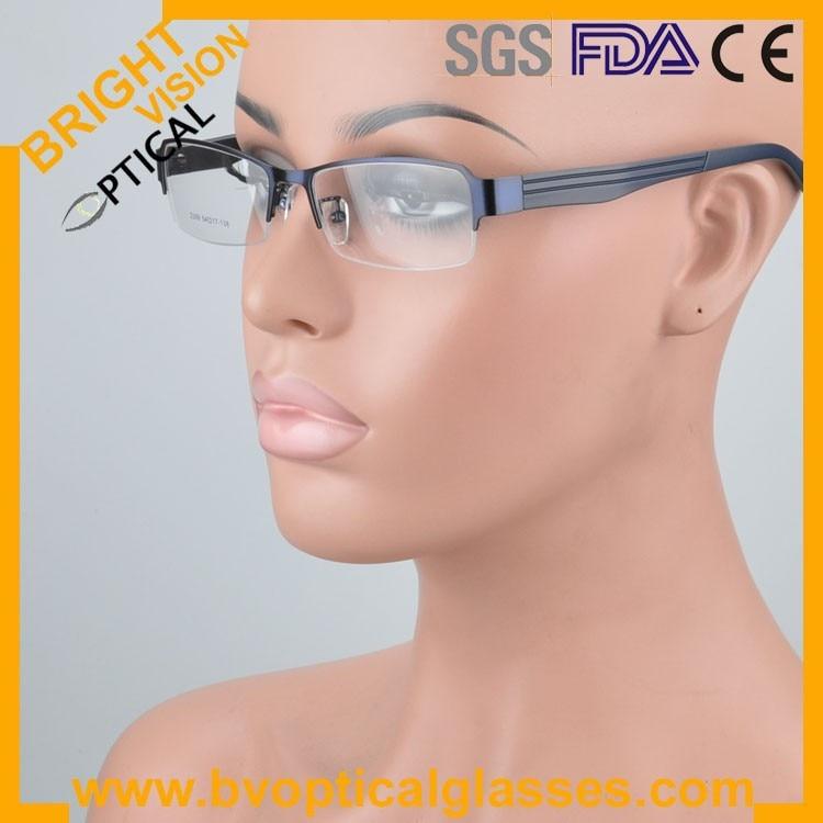 2299bluewear Factrory price half rim vintage optical frames eyewear glasses
