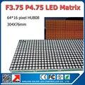 64 x 16 пикселей 304 x 76 мм f3.75 из светодиодов матричный полу-открытый красный цвет p3.75 из светодиодов матричный панель