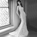 WW1297 Robe De Mariage IIIusion Crystal Beads Spaghetti Straps V Neck Vintage Lace White Ivory Mermaid Wedding Bridal Dresses