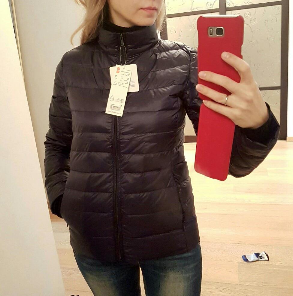 Johnature 2018 Новый Для женщин пальто осень-зима Куртка–пуховик на 90% белом утином пуху 16 Цвета теплый тонкий молния модные легкий пуховик S-3XL