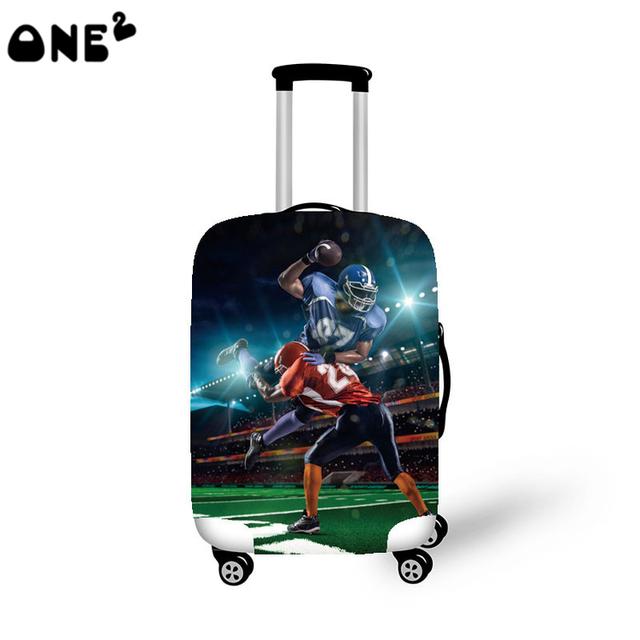 ONE2 novo design legal tampa spandex material padrão tampa da mala malas de viagem crianças populares personalizado cobertura de bagagem
