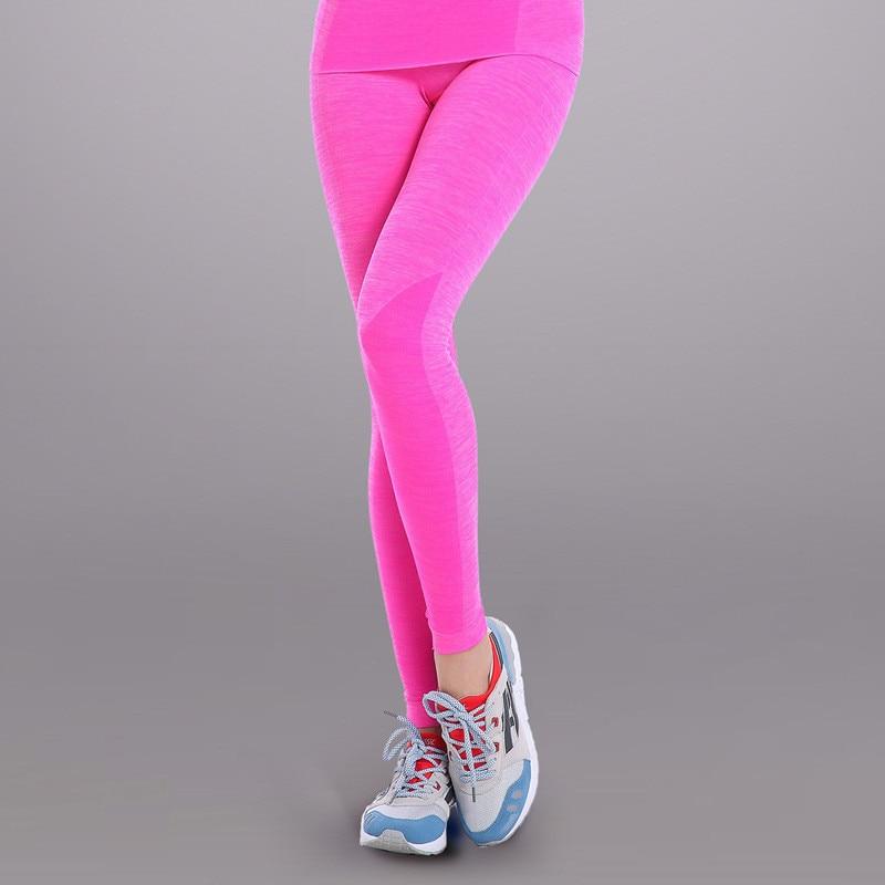 e39ff01356d04 2016 nuevas mujeres Yoga Quik secado Leggings alta cintura transpirable  gimnasio Correr ropa adelgazar Aptitud Deportiva Pantalones