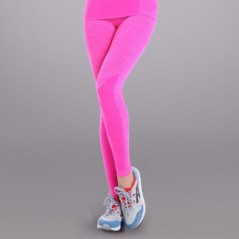 3884d6bfc Quik Secagem Yoga das mulheres Leggings de Cintura Alta Respirável Ginásio  Correndo Esportes Fitness Roupas Emagrecimento Calças