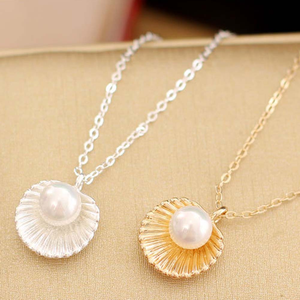 Fashion New Style Imitation Pearls Shells Necklaces Beautiful Small Shell Necklaces Elegant And Gernous Dress Accessories