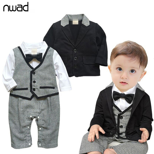 c422823ae0d2 2PCS  Set Baby Kid Plaid Clothing Set Gentleman Formal Suits For Newborn Baby  Boy Party
