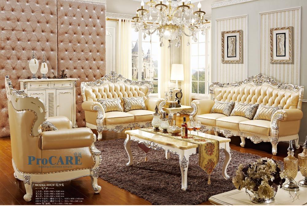 Luxus Italienischen Eiche Massivholz Echtem Leder Sofagarnitur Set Wohnzimmer Mbel Mit Couchtisch Schuhe Cabinet PRF8802