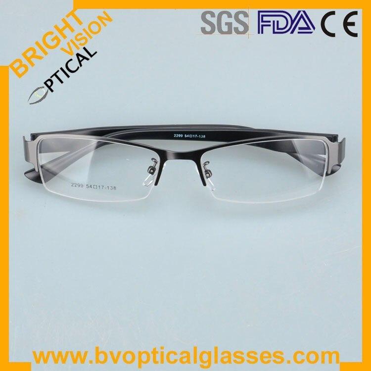 2299greyfold Factrory price half rim vintage optical frames eyewear glasses