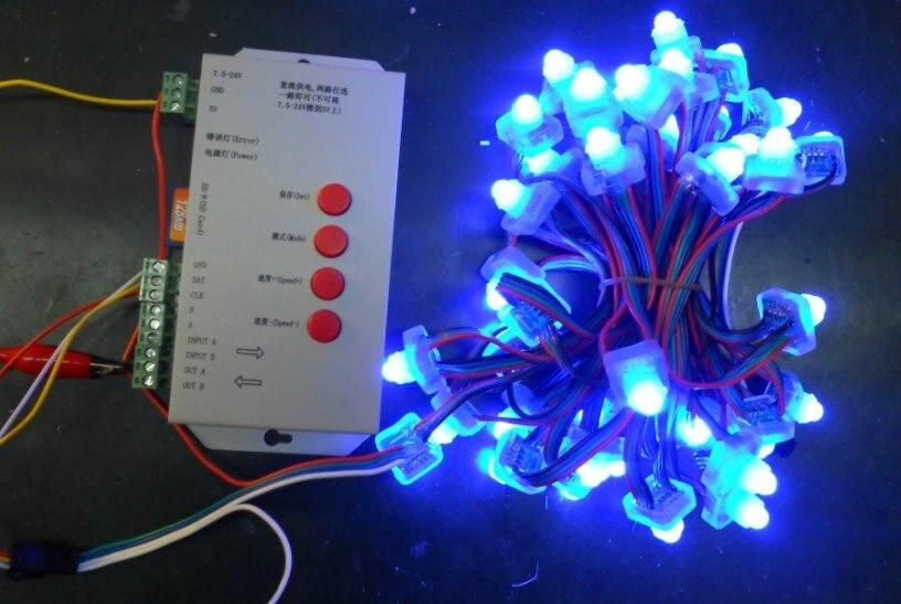 Светодиодный пиксельный модульный, WS2801, DC12V вход переменного тока, IP68; 100 шт. веревочке; IP68