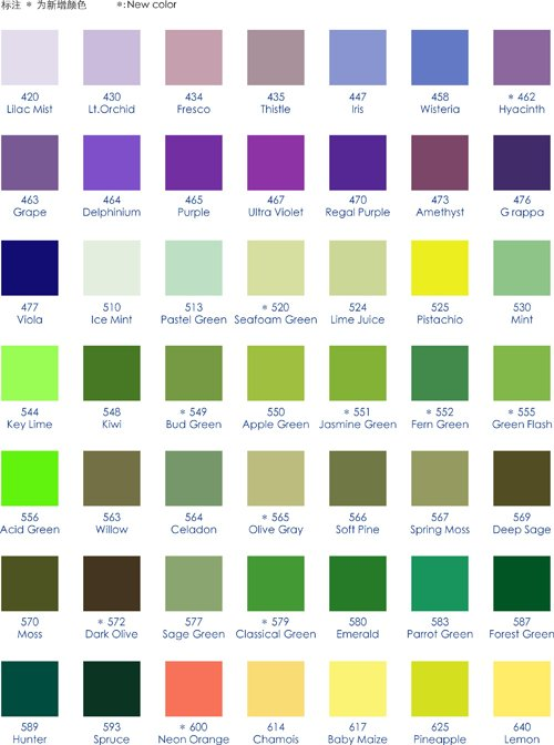Types of green color names images for Different shades of colors