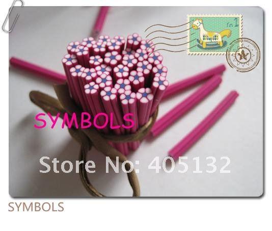 C-09 100 шт 5 мм розовый цветок из полимерной глины тростника необычный дизайн ногтей Полимерная глина трость